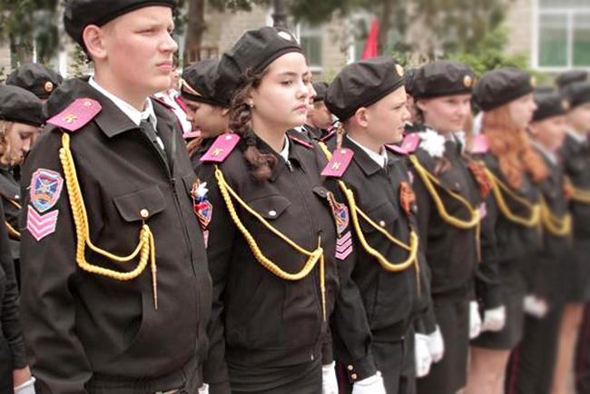 Форма кадетского класса черного цвета